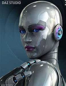 3d Woman Robot Character Design 1