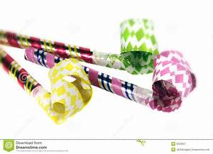 Party Blowers stock image. Image of multicolored, paper ...