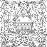 Coloring Gazebo Adults Template sketch template