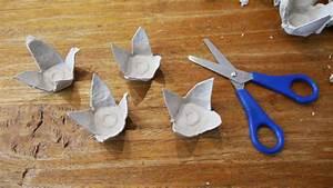 Wie Lange Braucht Farbe Zum Trocknen : selbst gemachtes mobile aus eierkartons fr hlingsdeko mit kindern basteln ~ Markanthonyermac.com Haus und Dekorationen