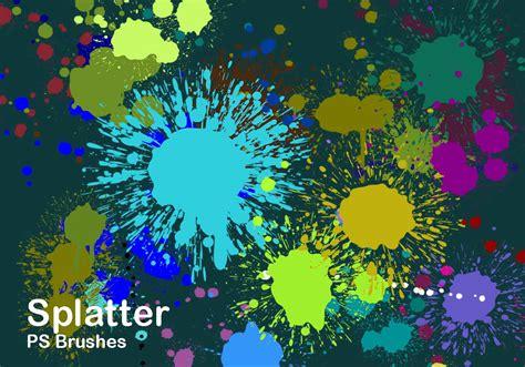color splatter 20 splatter color ps brushes abr vol 2 free photoshop