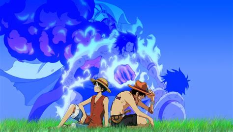 One Piece (anime) Ace Monkey D Luffy Wallpaper
