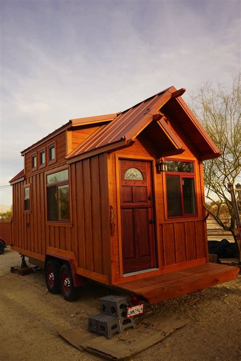 man builds craftsman style tiny house