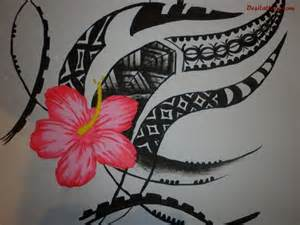 Samoan Flower Tattoo Designs