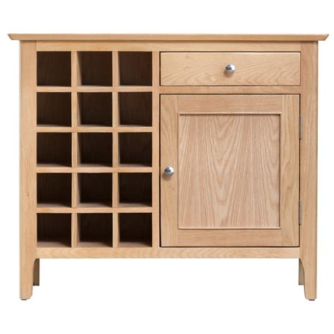 Wine Cupboard Furniture by Cornsay Small Oak Sideboard With Wine Storage Fully