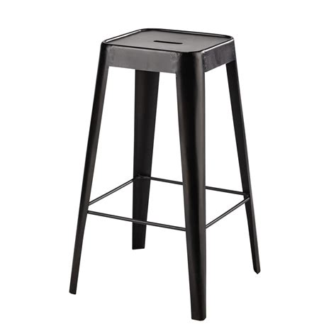 tabouret de bar metallique tabouret de bar en m 233 tal noir tom maisons du monde