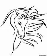 Unicorn Coloring Pages Horn Printable Colorear Mythical Unicornio Para Face Line Drawing Medium Unicorns Clip Print Transparent Svg Scrap Clipartmag sketch template