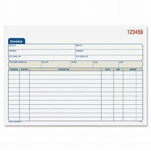 adams invoice book 2 part carbonless 50bk pk ld products With how to use an invoice book