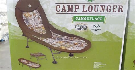 Timber Ridge Armless Folding Camo Chair by Timber Ridge C Lounger Cot Chair Camouflage Costco