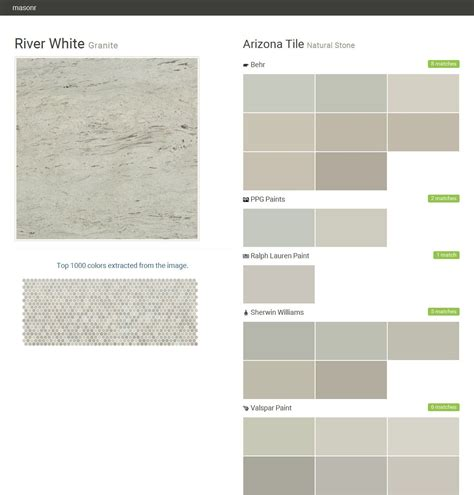 river white granite natural stone arizona tile behr