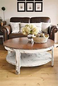 Te ensenamos a pintar y restaurar los muebles de tu sala for Distressed white round coffee table