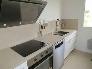 Plan De Travail De Cuisine : beton cire plan de travail cuisine maison design ~ Zukunftsfamilie.com Idées de Décoration