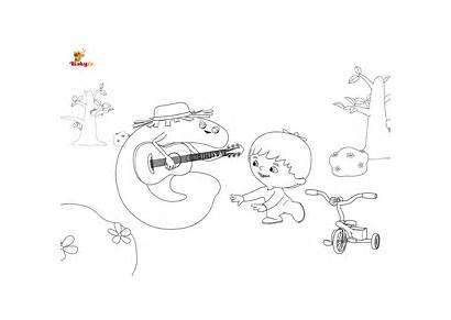 Babytv Charlie Alphabet Coloring