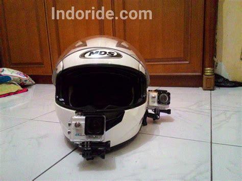 pasang mounting action camera  helm full face