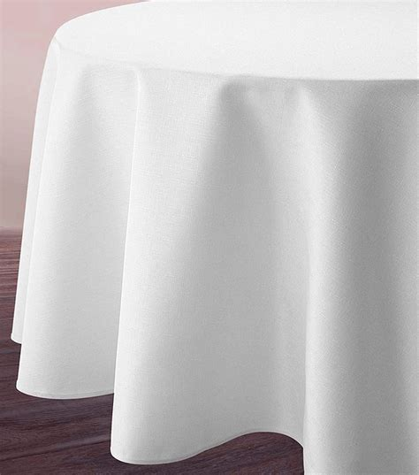 nappes tissus pas cher nappe ronde blanche tissu polyester 3m noel