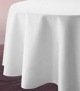Nappe Blanche Tissu : nappe ronde blanche tissu polyester 3m noel ~ Teatrodelosmanantiales.com Idées de Décoration