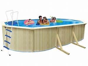 Piscine Acier Aspect Bois : piscine acier ovale aspect bois caracas x x 1 ~ Dailycaller-alerts.com Idées de Décoration