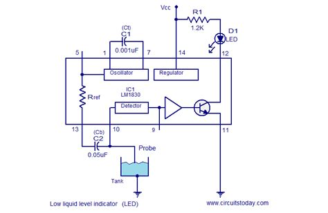 Liquid Level Indicator Circuits Using