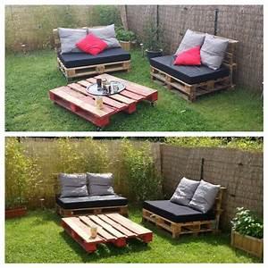Salon De Jardin Palettes : diy salon de jardin palettes diy mes beaux meubles ~ Farleysfitness.com Idées de Décoration