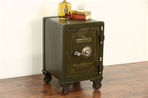 sold iron combination  antique green safe