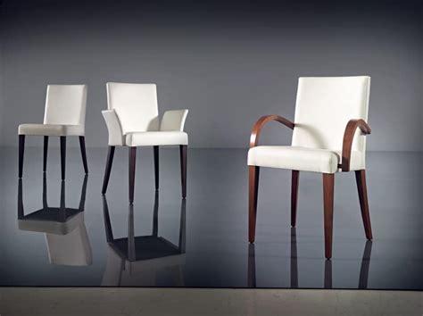 Sedia Con Braccioli, Moderna, In Faggio E Pelle, Albergo