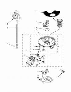 Pump And Motor Parts Diagram  U0026 Parts List For Model Wdf780slym0 Whirlpool