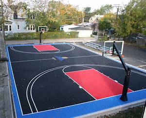 diy basketball court stencil hoops blog clipgoo modern With outdoor basketball court template