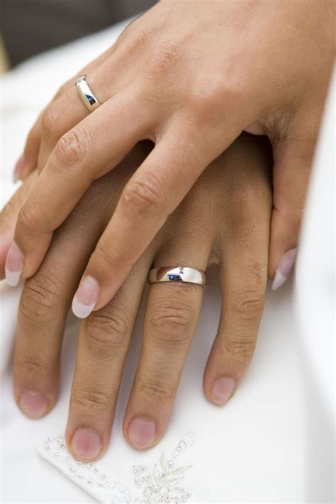 with wedding rings