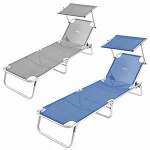 Lit De Camping : lit de plage avec pare soleil brunner malibu raviday camping ~ Teatrodelosmanantiales.com Idées de Décoration