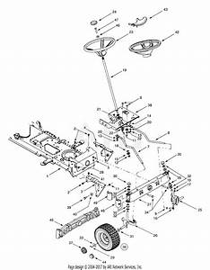 Troy Bilt 13ag609g063  2001  Parts Diagram For Steering