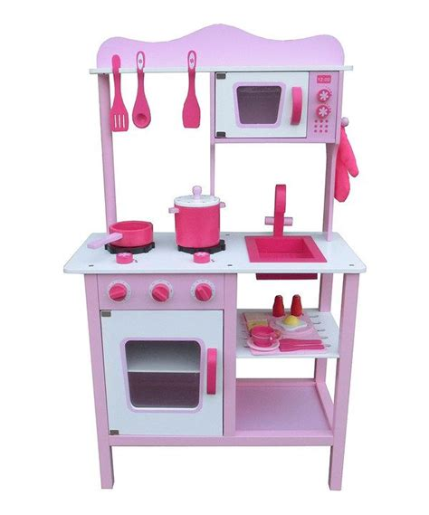 berry toys pink cute wood play kitchen