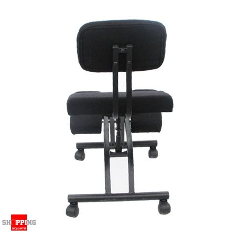 ergonomic adjustable office kneeling chair with backrest black shopping shopping