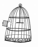 Cage Bird Coloring Pages Drawing Luke Flying Open Place Printable Getcolorings sketch template