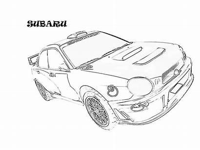 Cars Pages Subaru Drawing Coloring Exotic Printable