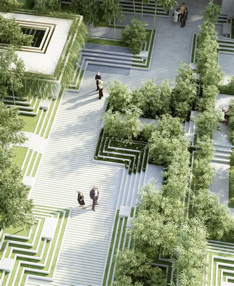 landscape architects design a new landscape by penda is inspired by indian stepwells and water mazes archdaily