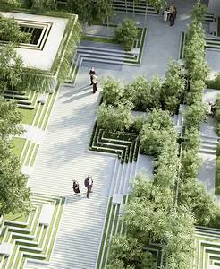 A new landscape by penda is inspired by indian stepwells for Latest landscape design