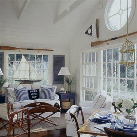 white slipcovered dining chairs inspirations on the horizon nautical coastal rooms