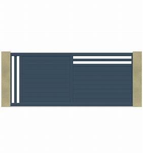 Portail 3 Metres : portail coulissant aluminium asym trique et sym trique ~ Premium-room.com Idées de Décoration