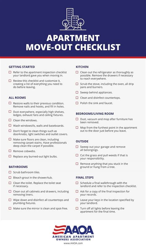 Apartment Move In Inspection Checklist by Apartment Move Out Checklist Pony Express Moving Services
