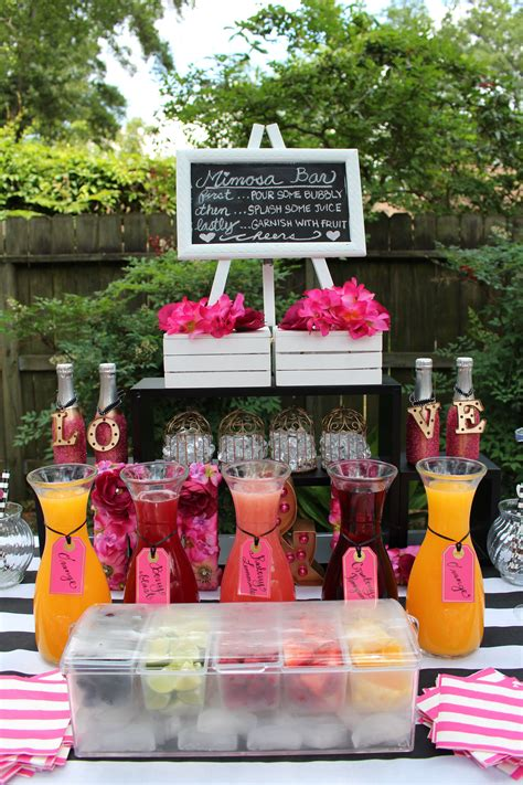 mimosa bar bridal shower kate spade theme mimosa bar kate spade bridal shower pinterest bar bridal showers and