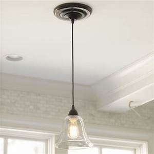Pendant lights for recessed cans : Glass pendant shade adapter recessed can light