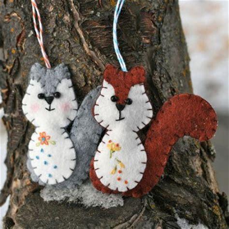free felt patterns free felt pattern gt woodland squirrel ornament