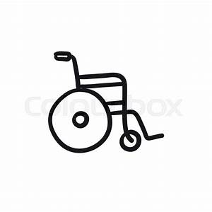 Wheelchair Vector Sketch Icon Isolated