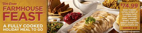Can you cancel christmas dinner order from bob evans? Bob Evans Farmhouse Feast: Fully Cooked Meal To Go ...
