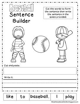 baseball math literacy worksheets  harpers hangout tpt