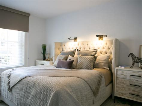 Bedroom Ideas Upholstered Headboard by Transitional Neutral Bedroom With Upholstered Headboard Hgtv