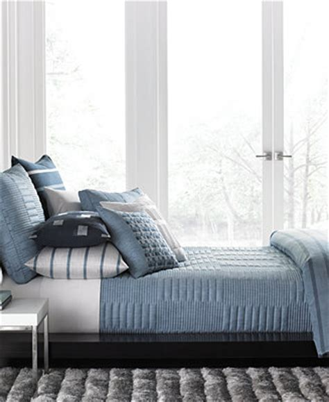 Macys Coverlets by Hotel Collection Colonnade Blue Coverlet Collection