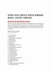 Suzuki Rv50 Service Repair Workshop Manual Instant
