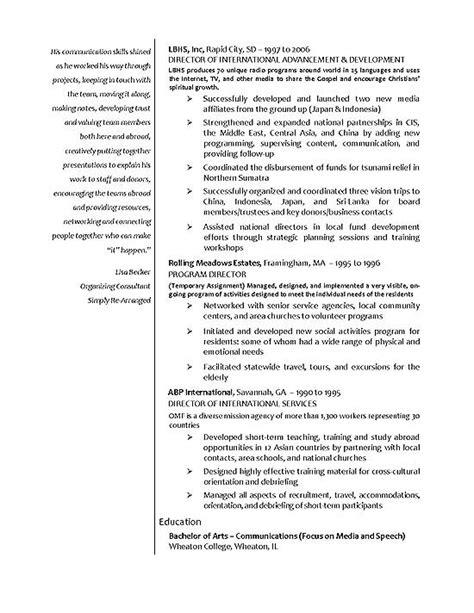 international relations resume exle