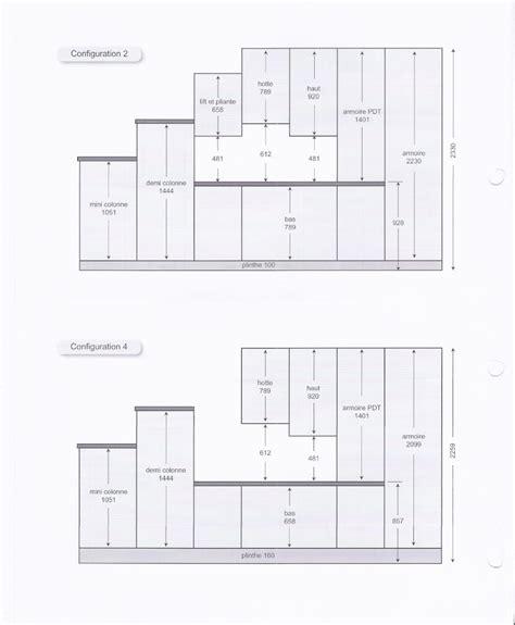 hauteur element cuisine hauteur entre plan de travail et meuble haut table de lit